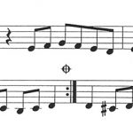 Arabic music sheet excerpt