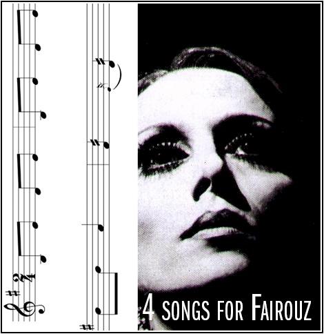 4 Sheet Music Song Files for Fairouz